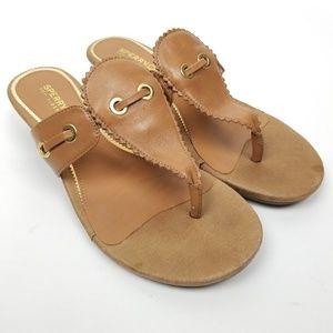 Sperry Top Sliders SZ 6.5 tan  sandals slip on